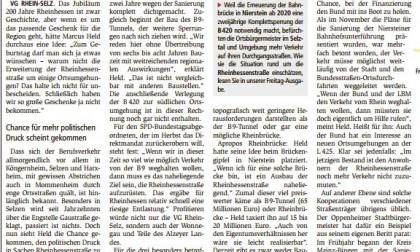 """19.01.2017/Allgemeine Zeitung Landskrone: """"Held will L425 fit machen"""""""