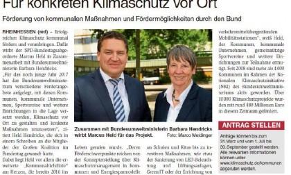 """Rheinhessisches Wochenblatt/01.02.207: """"Für konkreten Klimaschutz vor Ort"""""""