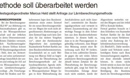 """Wormser Wochenblatt/11.02.2017: """"Methode soll überarbeitet werden"""""""