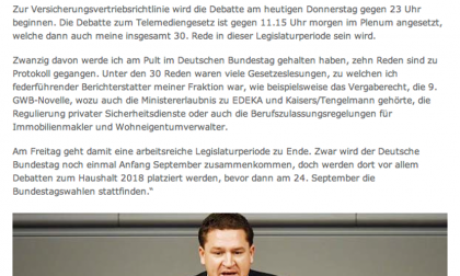 "Nibelungenkurier/29.06.2017: ""Arbeitsreiche Legislaturperiode geht zu Ende"""